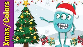 Decorate the Christmas Tree | Christmas Colors Song for Kids | Fun Kids English