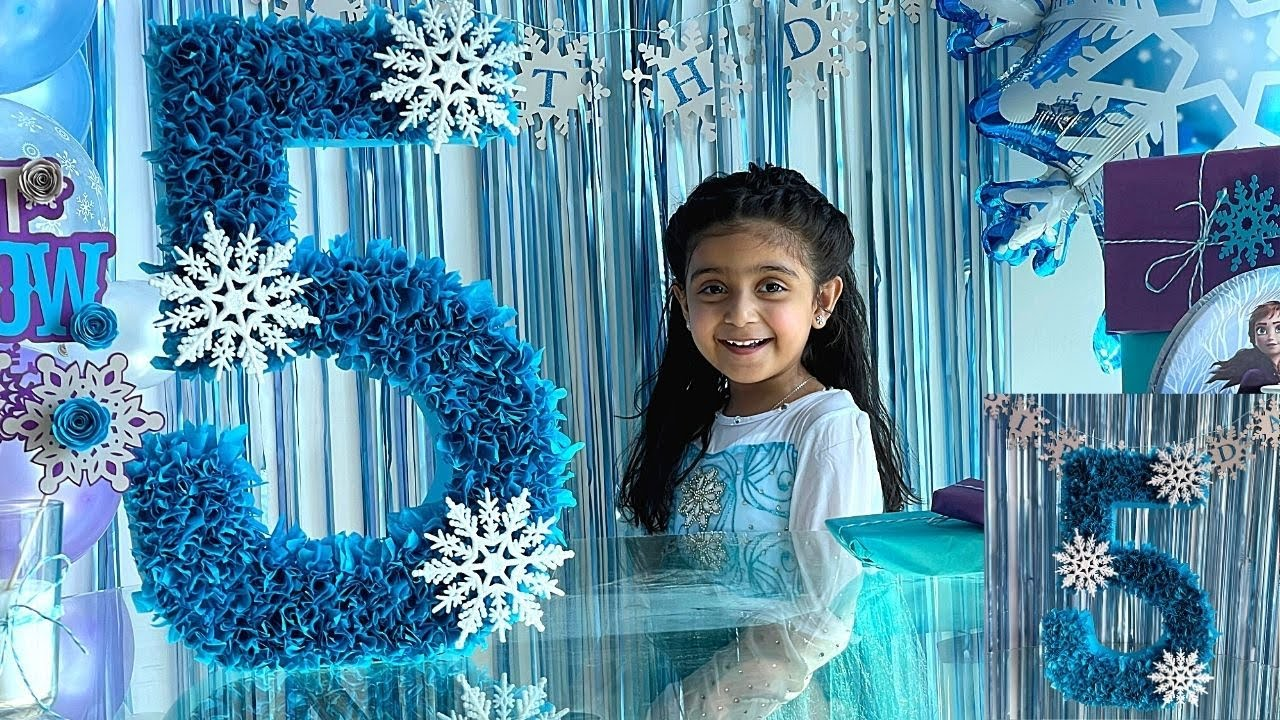 3d Number Letter For Frozen Birthday Decoration Frozen Theme Birthday Party At Home Youtube