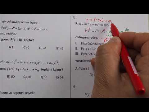 AYT ÖNCESİ 30 Soruda Polinom Tekrar