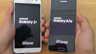 Samsung Galaxy A7 (2016) vs Galaxy J7 - Speed & Camera Test (4K)