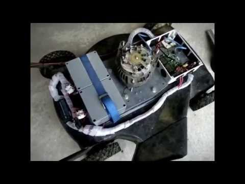 Diy Electric Lawn Mower Using Alternator As Motor Youtube