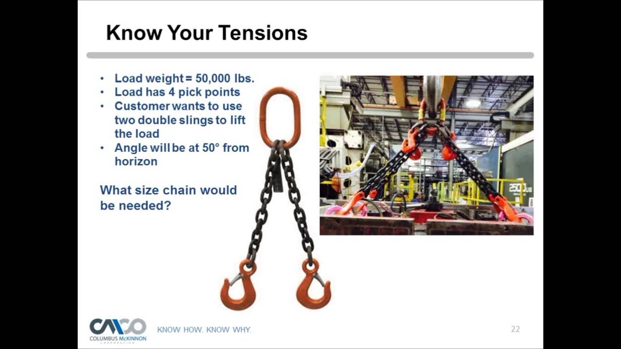 Safety Webinar: How to Properly Size Your Chain Slings