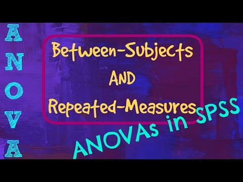 Between Subjects And Repeated Measures ANOVA In SPSS