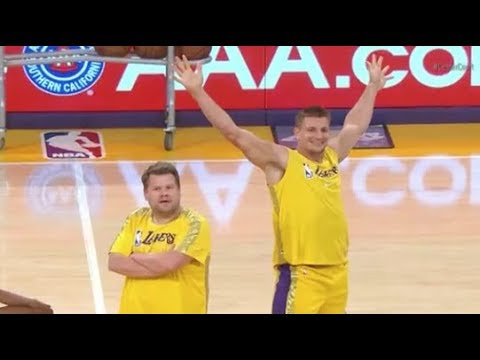 Maverik - Gronk Dances With the Laker Girls!