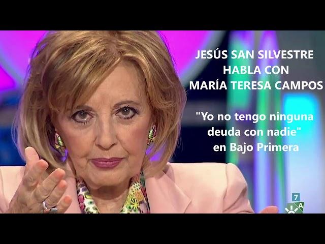 Jesús San Silvestre habla con María Teresa Campos para preguntarle por su deuda de 700.000 euros