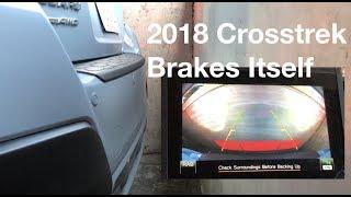 The 2018 Crosstrek STOPS on its OWN!!??