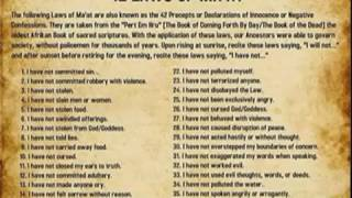 Ma'at Vs Holy Bible: Concepts of Humanity