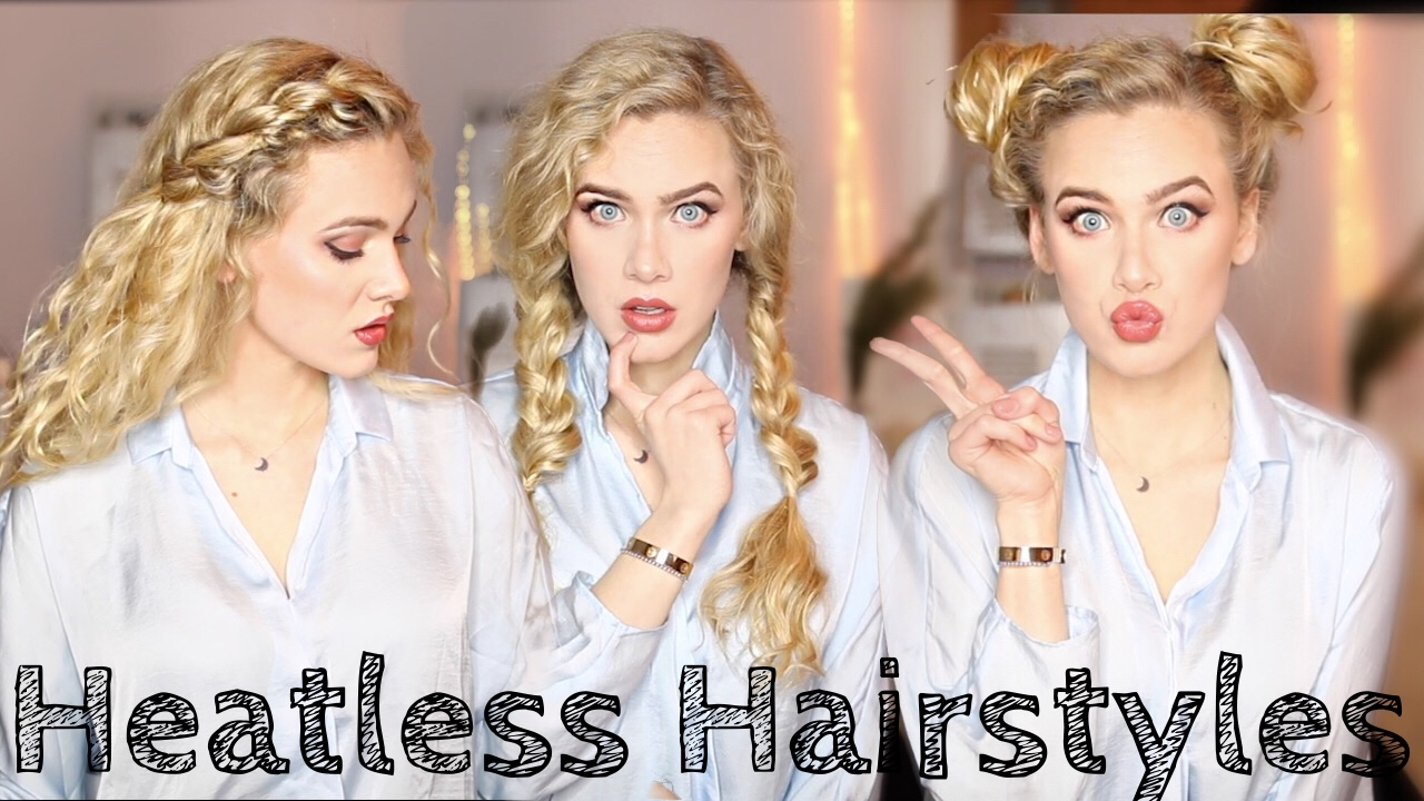 8 Heatless Hairstyles For Wavy Curly Hair India Batson Youtube