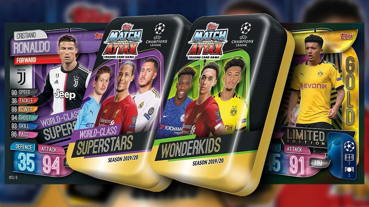 2020 Mega Tin Card List.Topps Match Attax 2019 2020 Champions League Unboxing 2 Mega Tins