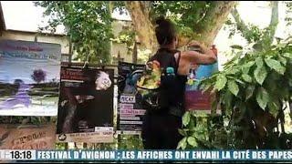 Festival d'Avignon : les affiches ont envahi la cité des Papes