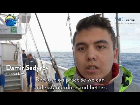 Kazakh students on board of sailing vessel Eendracht