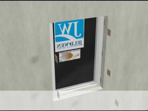 JELD-WEN Flush Fin or Windowmaster EZ Frame Vinyl Window Installation