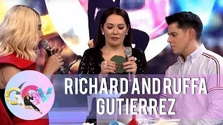 Ruffa and Richard ask some fan to help them separate the mosquito c...