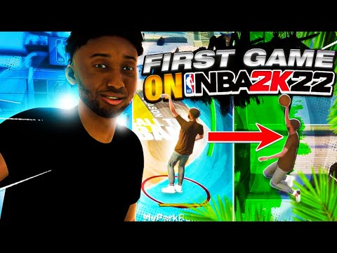 My First Game in nba 2k22 cruise ship with my demigod build and it went like this... |