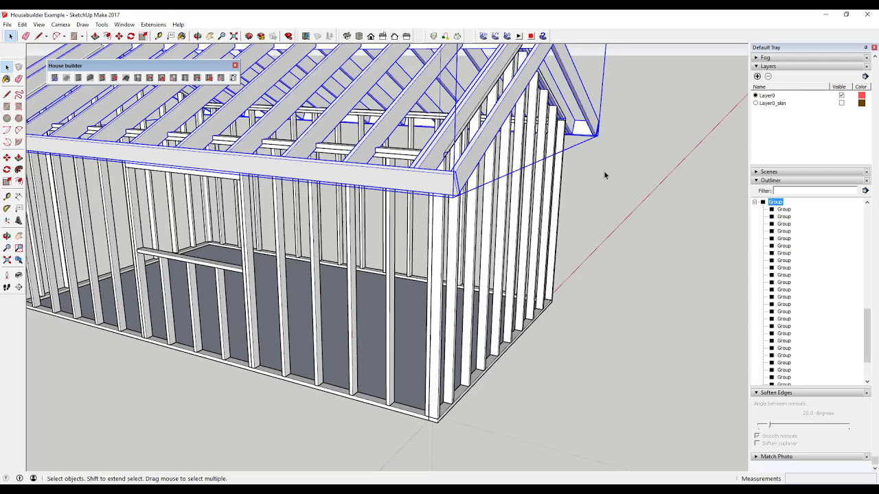 Creating Wood Framing In Sketchup - The Sketchup Essentials #42   Thesketchupessentials 13:02 HD