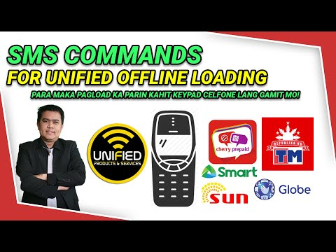 Видео: Unified SMS Commands for Unified Loading gamit ang mga Keypad na mga Celfone