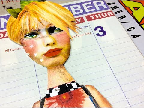 December Magazine Art Journal Flip and Traveler's Notebook Collage Flip