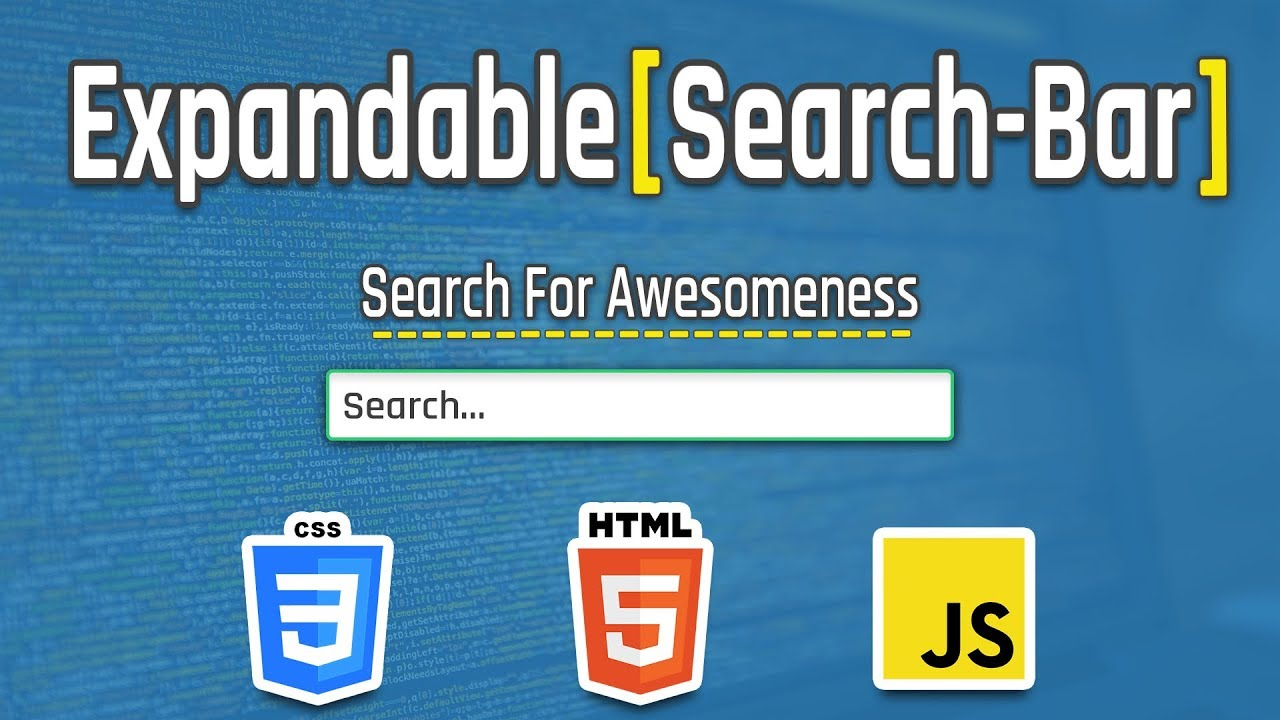 Let's Create an Expandable Search Bar on Vanilla JS and CSS With Animation
