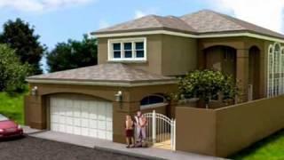 Repeat youtube video Planos de Casas Modelo San Aaron #01 Arquimex Planos de Casas