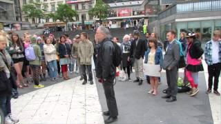 Tyst minut med Pippi Långstrump (Sergels torg, Stockholm)