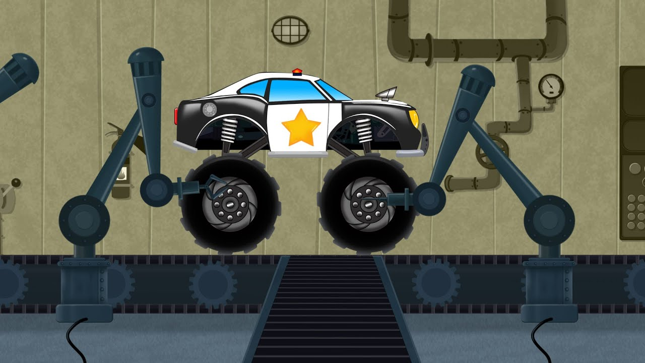 Toy Factory | Police Monster Truck | Car Assemble