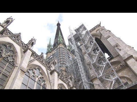 Cathédrale de Rouen : restauration en altitude