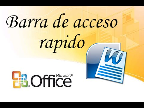 barra de acceso rápido de WORD