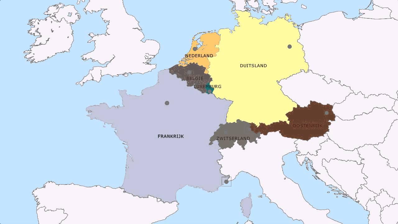 Topografie Landen En Hoofdsteden West Europa Youtube