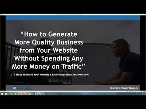 [Contractor Dynamics Webinar] - Make Your Remodeler Website a Lead Gen Machine