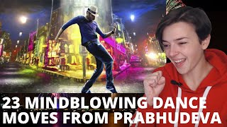 23 Mindblowing Dance Moves By Prabhu Deva | REACTION!