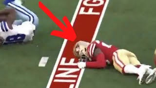 NFL: Jimmie Ward (KNOCKED OUT COLD) NASTY HIT