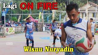 Lagi ON FIRE !! Wisnu Nuryadin sang bintang baru beberapa kali Lakukan spike bawah Net - QC Cup