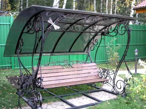 Дачные качели 11  Для дачи  кованые качели для дачи в Днепропетровске
