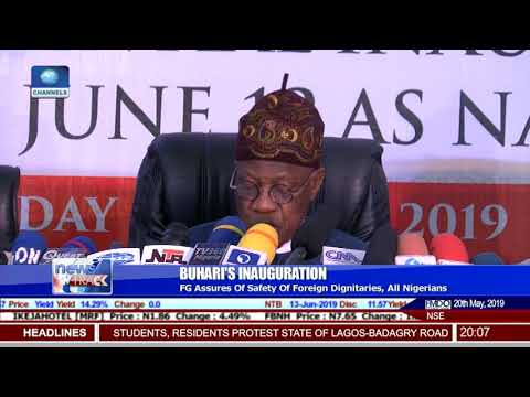 Presidential Inauguration: Nigeria Is Safe For World Leaders To Come, Says Lai Mohammed