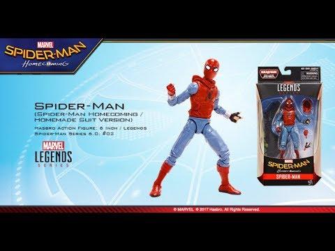 Spiderman Homecoming Action Figure Marvel Legends Hasbro 2017 Uomo Ragno NUOVO