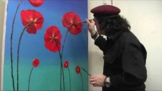 Art Lesson: How to Paint 3D Poppies Using Acrylic Paint