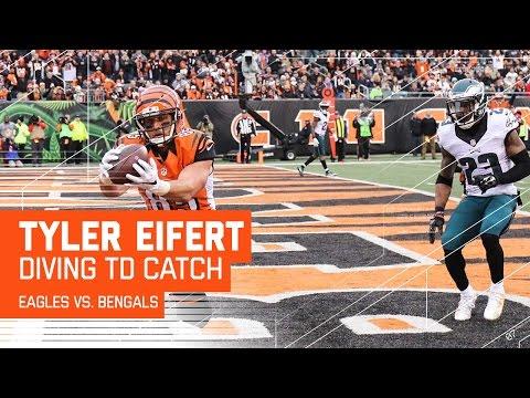 Bengals Big Drive Ends with Tyler Eifert's Diving TD Grab! | Eagles vs. Bengals | NFL