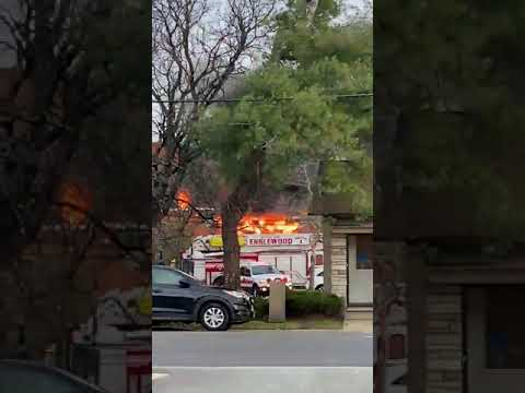 Fire Follows Explosion In Englewood