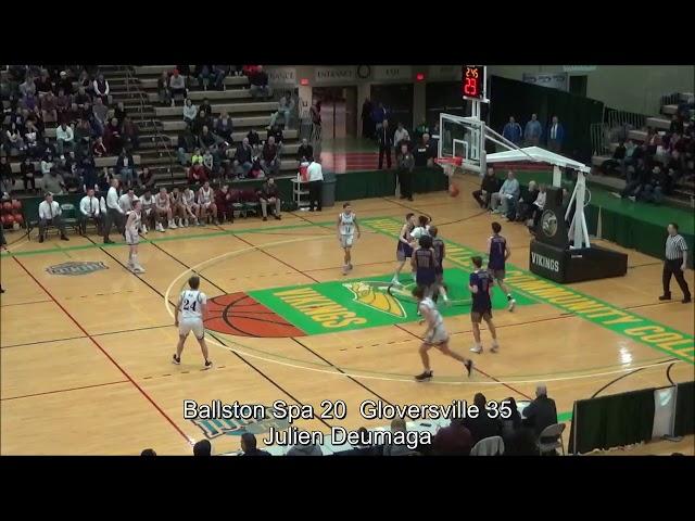 Game Highlights Boys' Varsity: Ballston Spa 44 vs Gloversville 52 (F)