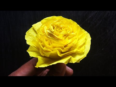 How To Make Golden Rose From Scrap Paper