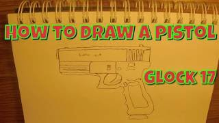 How To Draw A Pistol (Glock 17) | Speed Drawing