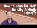 Leaning the Mixture for a High Density Altitude Takeoff