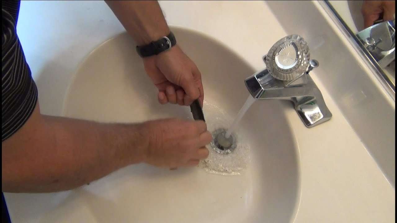 Unclog Bathroom Sink Quick And Easy Fix Youtube