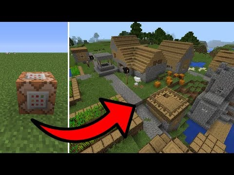 Minecraft PE - How To Spawn Villages With Commands!