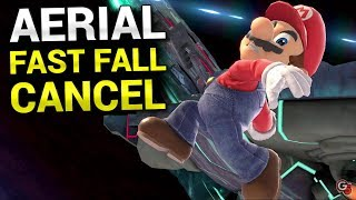 AERIAL FAST FALL CANCEL Tech in Smash Ultimate!!