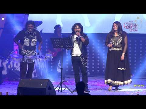 """""""Ivalinda Ivalinda"""" song by Arjun Janya & Anuradha Bhat @ 53rd Bengaluru Ganesh Utsava..!!!"""