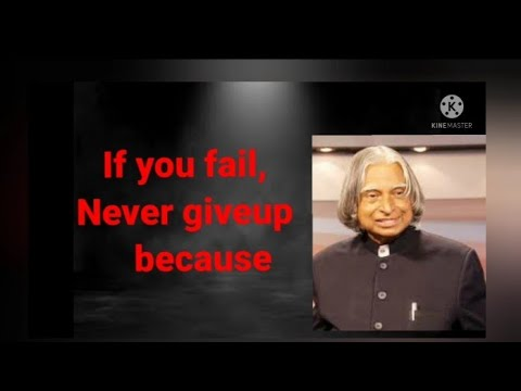 DR APJ ABDUL KALAM SIR QUOTES |If you fail Never give up|Great path to wisdom