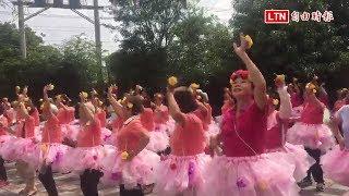 神岡北庄老人花裙上身 大跳「可愛的玫瑰花」