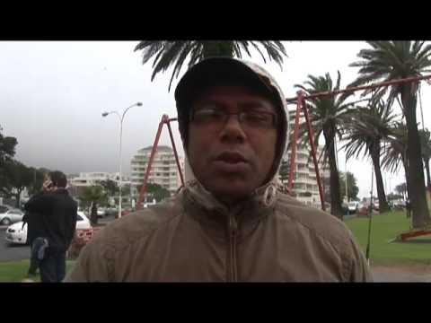 SABC protest in Sea Point, Cape Town