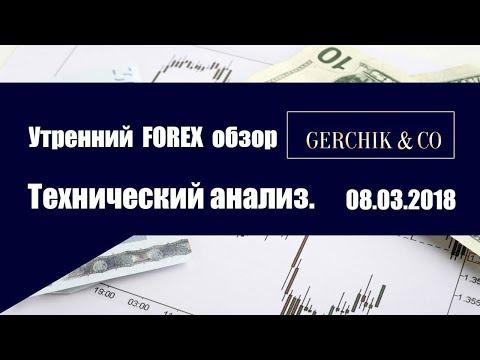⚡ Технический анализ основных валют 08.03.2018 | Утренний обзор Форекс с GERCHIK & CO.